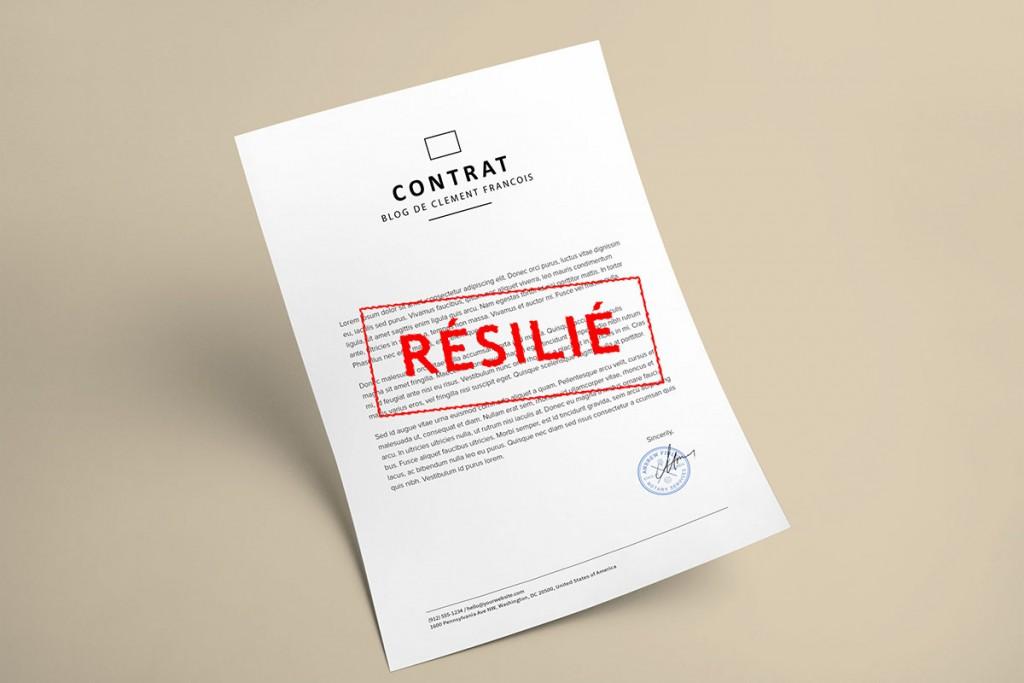 Contrat résilié