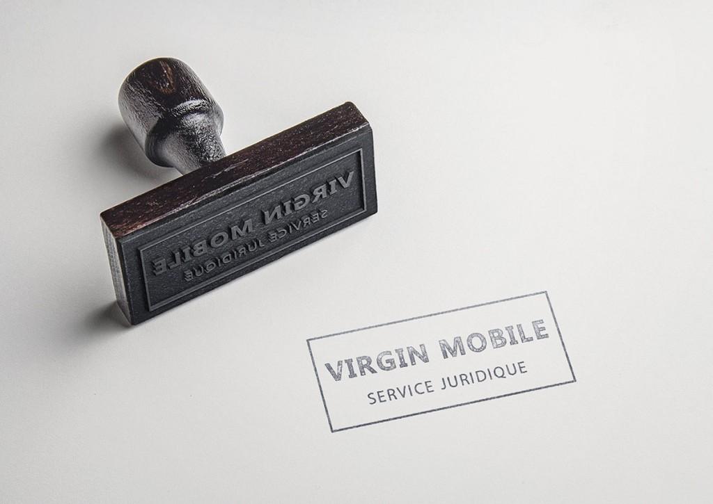 Tampon service juridique Virgin mobile