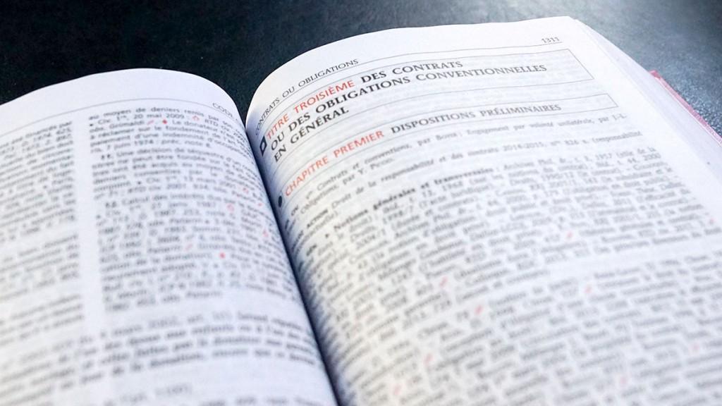 Code civil droit des contrats obligation