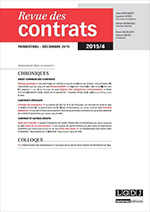 Revue des contrats