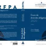 """Parution du """"Cours de droit des obligations 2020"""""""
