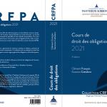 """Parution du """"Cours de droit des obligations 2021"""""""